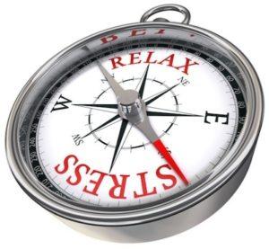 relax stress concept compass